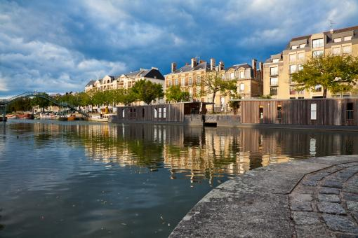Free Stock Photo of Nantes Riverside Scenery