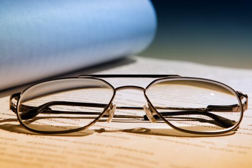Free Stock Photo of papers and glasses