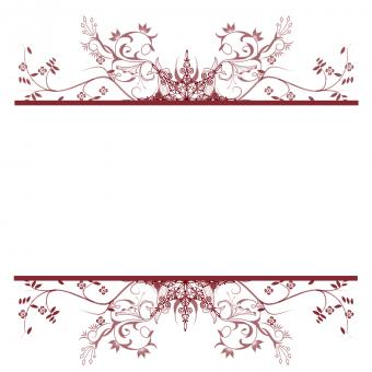 Free Stock Photo of Red Floral Frame