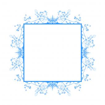 Free Stock Photo of Blue Floral Frame