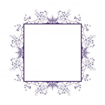Free Stock Photo of Floral Square Frame