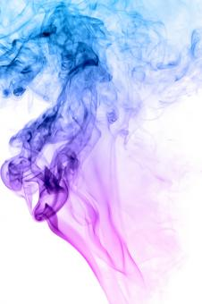 Free Stock Photo of Violet and Blue Smoke