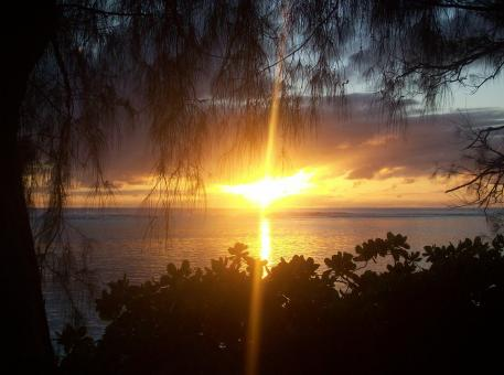 Free Stock Photo of Sunset on Rarotonga