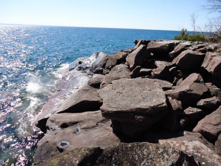 Free Stock Photo of Rocks on Superior Shore