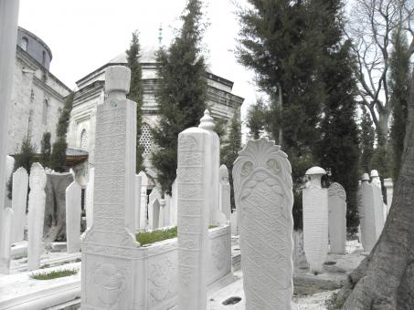 Free Stock Photo of Marble gravestones