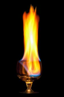 Free Stock Photo of Flaming drink