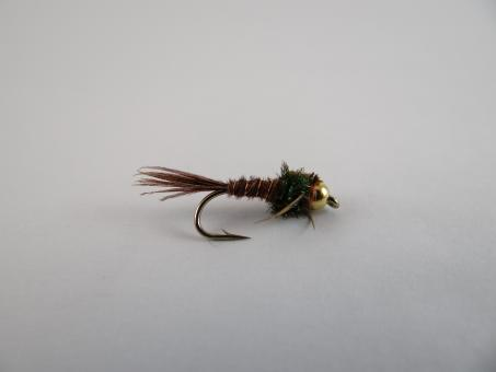 Free Stock Photo of Gold Bead Pheasant Tail Nymph