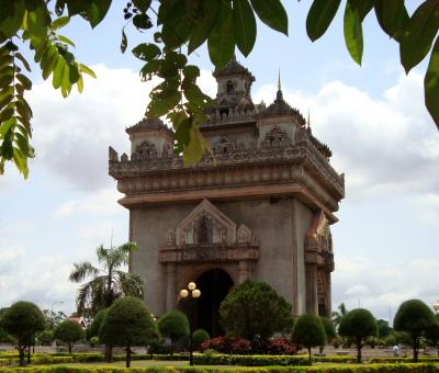 Free Stock Photo of Patuxai Gate in Vientiane, Laos