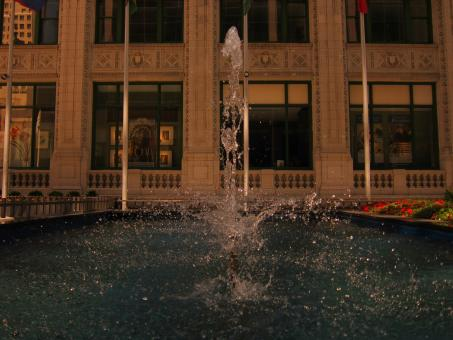 Free Stock Photo of Chicago Fountain