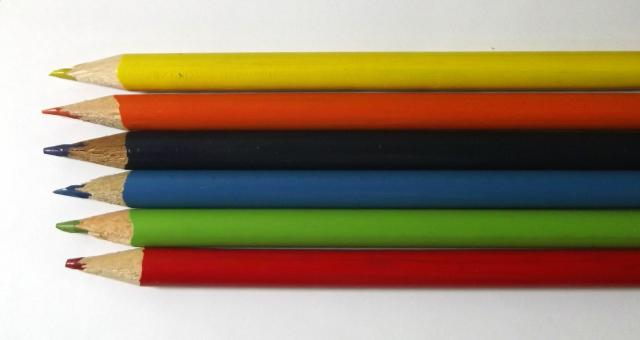 Free Stock Photo of Coloured Pencils