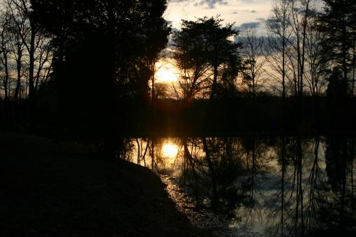 Free Stock Photo of Sunset on the pond