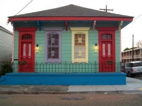 Free Stock Photo of Colorful House In New Orleans