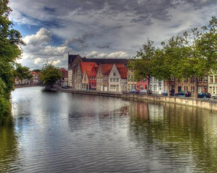 Free Stock Photo of Brugge City View