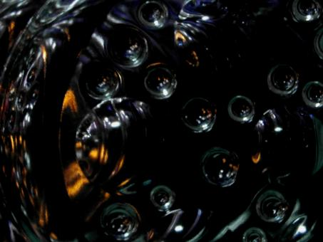 Free Stock Photo of Black Abstract Bubble Background