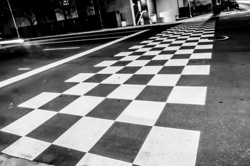 Free Stock Photo of Checkered crosswalk pattern