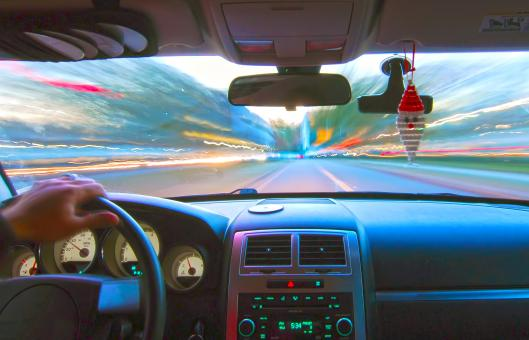 Free Stock Photo of Driving at the speed of light