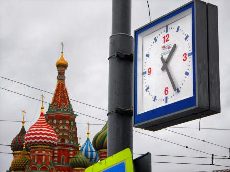 Free Stock Photo of Moscow time