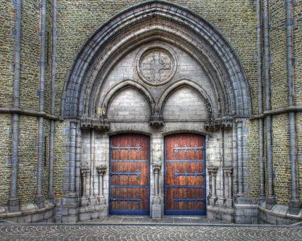 Free Stock Photo of Medieval Church Doors