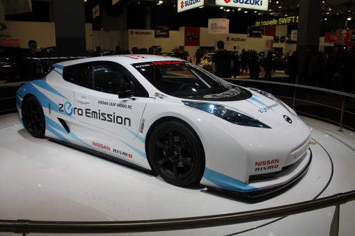 Free Stock Photo of Nissan Leaf