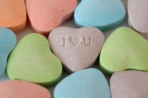 Free Stock Photo of Candy Hearts I Love You
