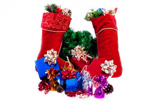 Free Stock Photo of Christmas stockings