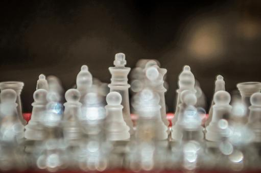 Free Stock Photo of Glass chess