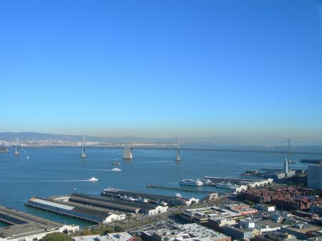 Free Stock Photo of Bay Bridge View