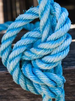 Free Stock Photo of Blue Rope