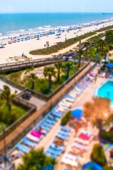 Free Stock Photo of Tilt-shift Beach