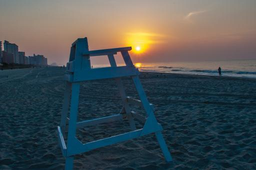 Free Stock Photo of Lifeguard chair