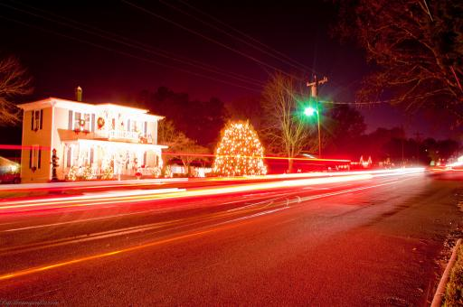 Free Stock Photo of Christmas town usa