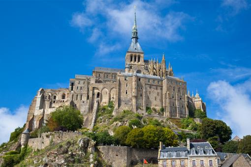 Free Stock Photo of Mont Saint-Michel in Normandy, France