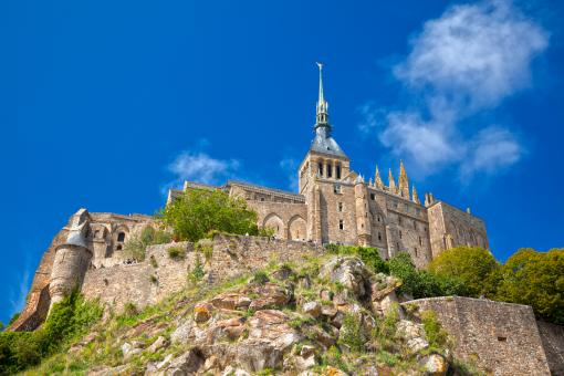 Free Stock Photo of Castle Mont Saint-Michel