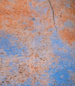 Free Stock Photo of Blue Cracked Metal Texture