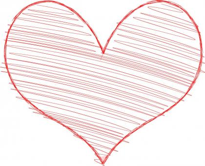 Free Stock Photo of Heart with Scribble Fill