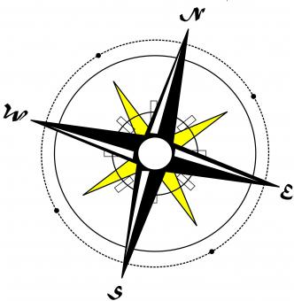 Free Stock Photo of Compass Illustration