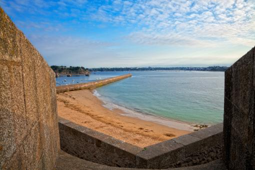 Free Stock Photo of Saint-Malo Beach Scenery - HDR