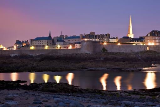 Free Stock Photo of Saint-Malo Twilight Scene