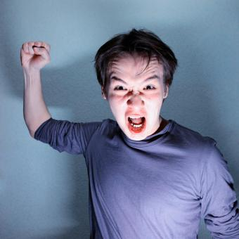 Free Stock Photo of angry man