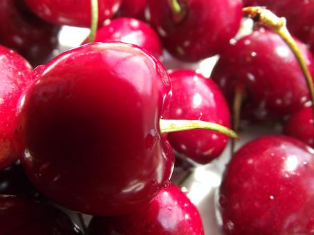 Free Stock Photo of A big red cherries
