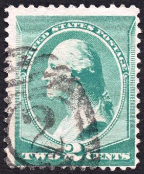Free Stock Photo of Green George Washington Stamp