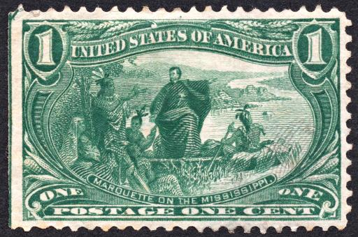 Free Stock Photo of Green Marquette Stamp