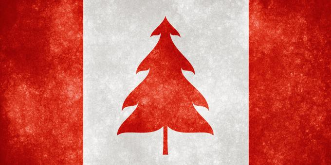 Free Stock Photo of Canada Grunge Flag - Christmas Tree
