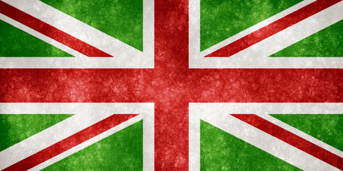 Free Stock Photo of UK Grunge Flag - Christmas Colors