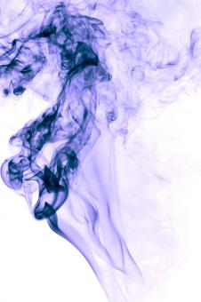 Free Stock Photo of Purple Smoke on White