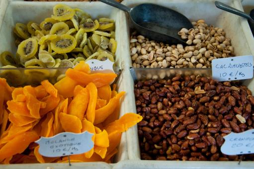 Free Stock Photo of Dried fruits and nuts