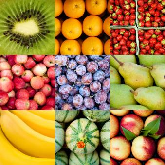 Free Stock Photo of Fruit Collage