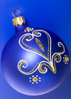 Free Stock Photo of blue christmas ball