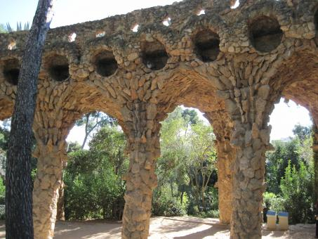 Free Stock Photo of Barcelona Guell park bridge