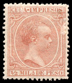 Free Stock Photo of Brown King Alfonso XIII Stamp